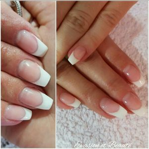 """Remplissage gel + french """"ballerina nails"""